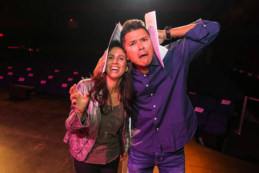 Carlos Méndez y Nobel Gorgoy los conductores del certamen Miss El Tiempo y Miss Teen El Tiempo 2018, ensayaron previo al evento, el sábado 7 de octubre, 2017, en el Lowden Theater en Las Vegas.  ...