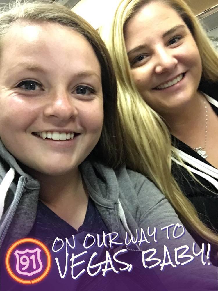 Paige Gasper, de 21 años, fue baleada en su lado derecho en el festival de la Ruta 91 el 1 de octubre. Cortesía de Las Vegas Review-Journal.
