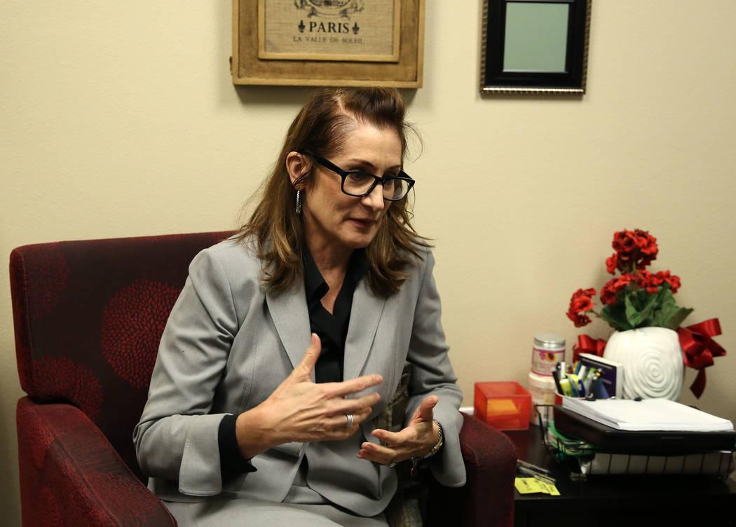 Trudy Gilbert-Eliot  habla durante una entrevista en su oficina de Las Vegas el martes, 10 de octubre de 2017. Bizuayehu Tesfaye Las Vegas Review-Journal @bizutesfaye