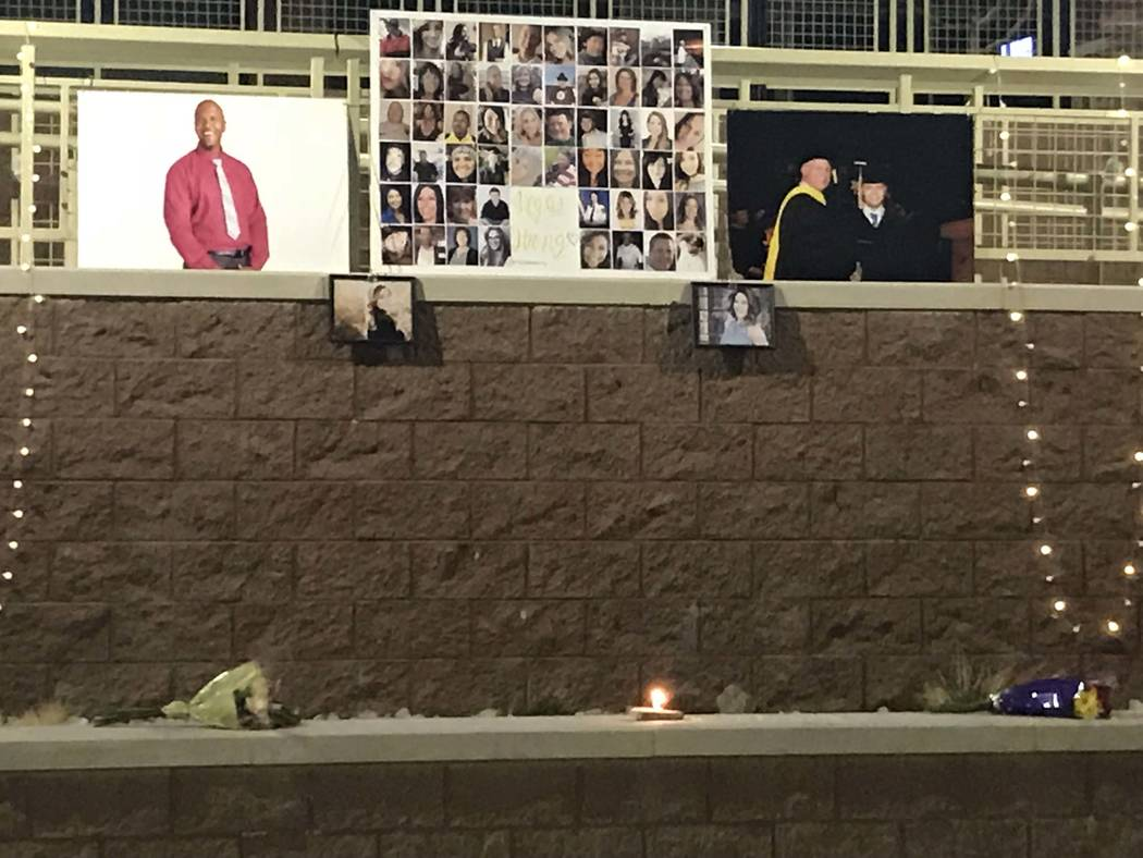 Desde la vigilia de la Universidad Estatal de Nevada el martes 10 de octubre de 2017. Foto enviada por Melinda.