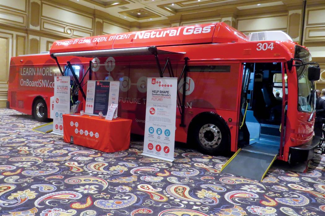 Durante el evento se expusieron nuevos métodos de transporte público. Viernes 13 de octubre en el hotel y casino Bellagio. Foto El Tiempo.