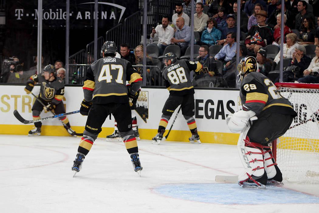 Los Golden Knights celebrarón su primera victoria en casa. Fotos T-Mobile Arena, octubre 10 del 2017, en Las Vegas, Nevada. | Foto Cristian De la Rosa / El Tiempo.