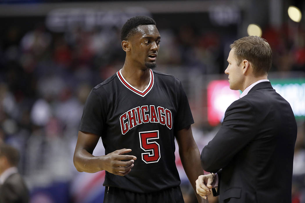 Bobby Portis de los Bulls de Chicago. | Foto AP /Alex Brandon.