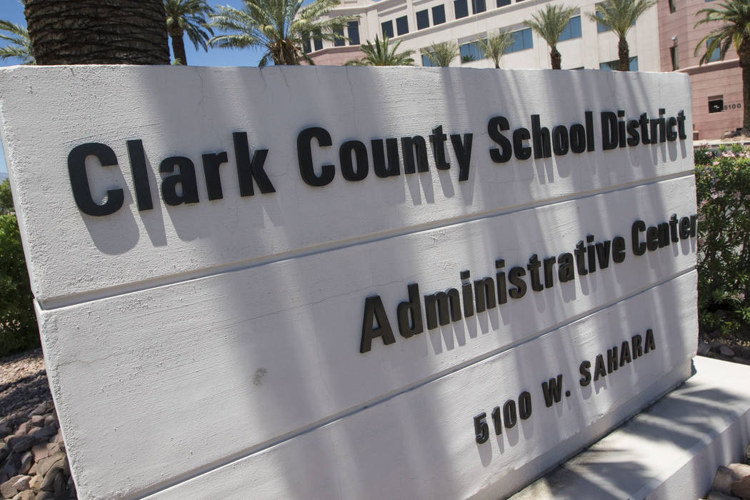 Edificio de administración del Distrito Escolar del Condado de Clark ubicado en el 5100 West Sahara Ave. en Las Vegas el martes 23 de mayo de 2017. Richard Brian Las Vegas Review-Journal @vegasph ...