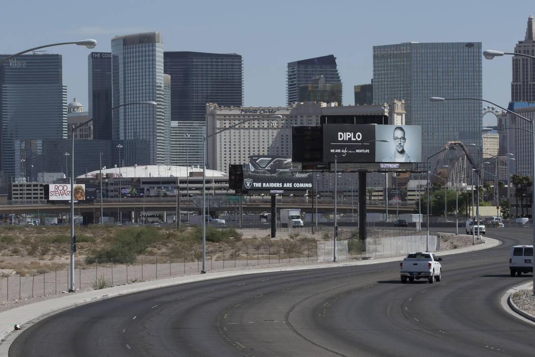 El sitio del estadio de los Raiders en Las Vegas, cerca de Russell Road y Dean Martin Drive, el martes 15 de agosto de 2017. Heidi Fang Las Vegas Review-Journal @HeidiFang
