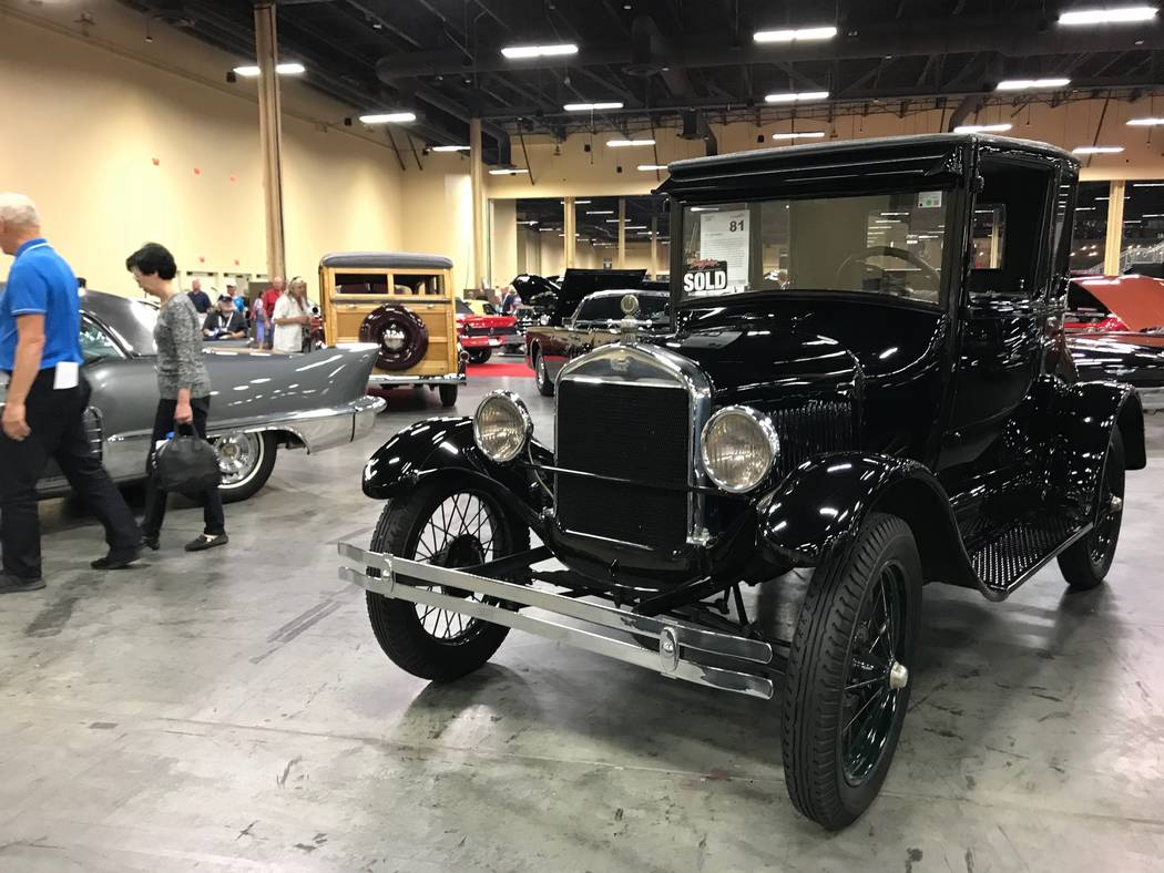 Un automóvil Modelo T en la subasta de automóviles Barrett Jackson en Las Vegas el jueves 19 de octubre de 2017. (Todd Prince / Las Vegas Review-Journal)
