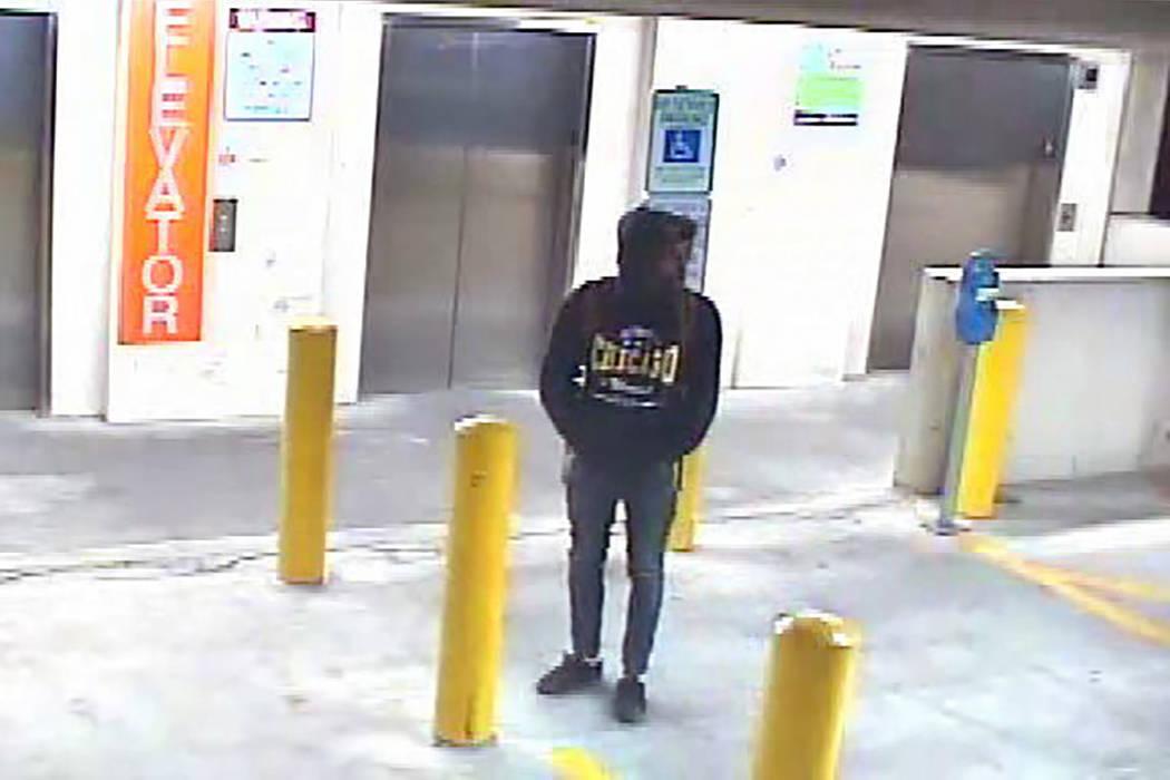 Foto de vigilancia del sospechoso (Departamento de Policía Metropolitana de Las Vegas)