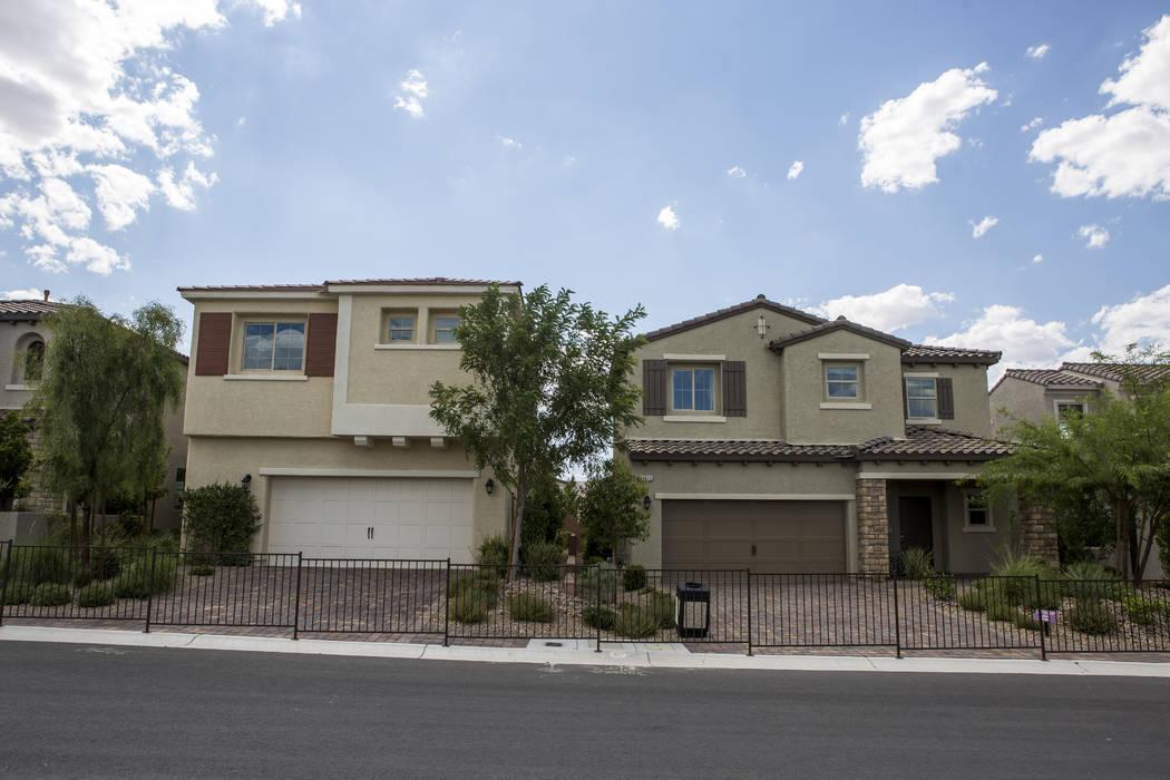 Casas muestra en el proyecto Century Communities en el suroeste de Las Vegas el miércoles, 9 de agosto de 2017. Patrick Connolly Las Vegas Review-Journal @PConnPie