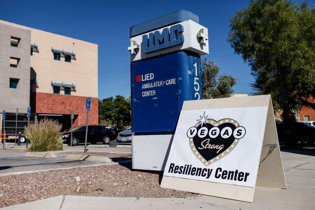 El Centro de Resiliencia Las Vegas Strong ubicado en el Centro de Atención Ambulatoria Lied de UMC en Las Vegas, el lunes, 23 de octubre de 2017. Joel Angel Juarez Las Vegas Review-Journal @jajua ...