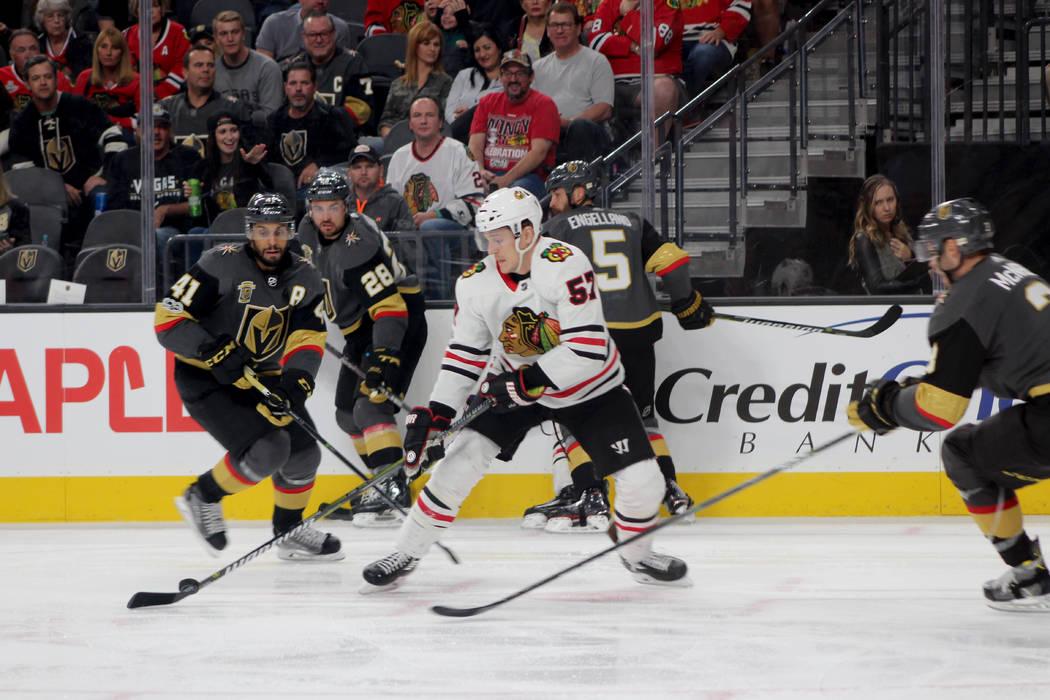 Chicago se fue al frente en un principio, pero Golden Knights dio la vuelta al marcador. 24 de octubre en T-Mobile Arena. | Foto Cristian De la Rosa / El Tiempo.