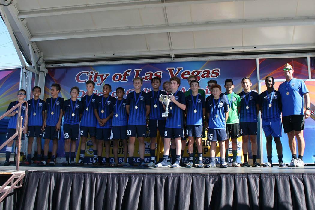 """Equipo de fútbol """"Gunners FC"""", campeón menores de 14.   Foto Valdemar González / El Tiempo."""