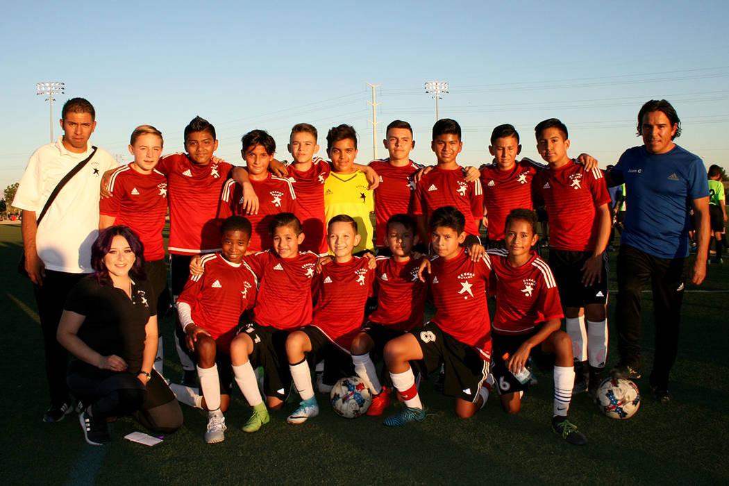 Equipo Nevada Stars, subcampeón menores de 13 años.   Foto Valdemar González / El Tiempo.