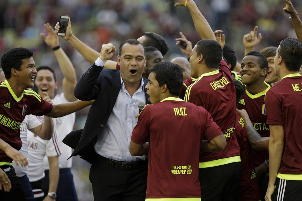 El seleccionador de Venezuela, Rafael Dudamel. | Foto AP/Fernando Llano.