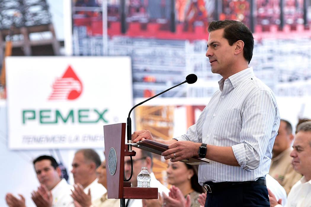 El presidente Enrique Peña Nieto, Tula de Allende, Hidalgo, 3 Nov 2017. | Notimex-Presidencia.