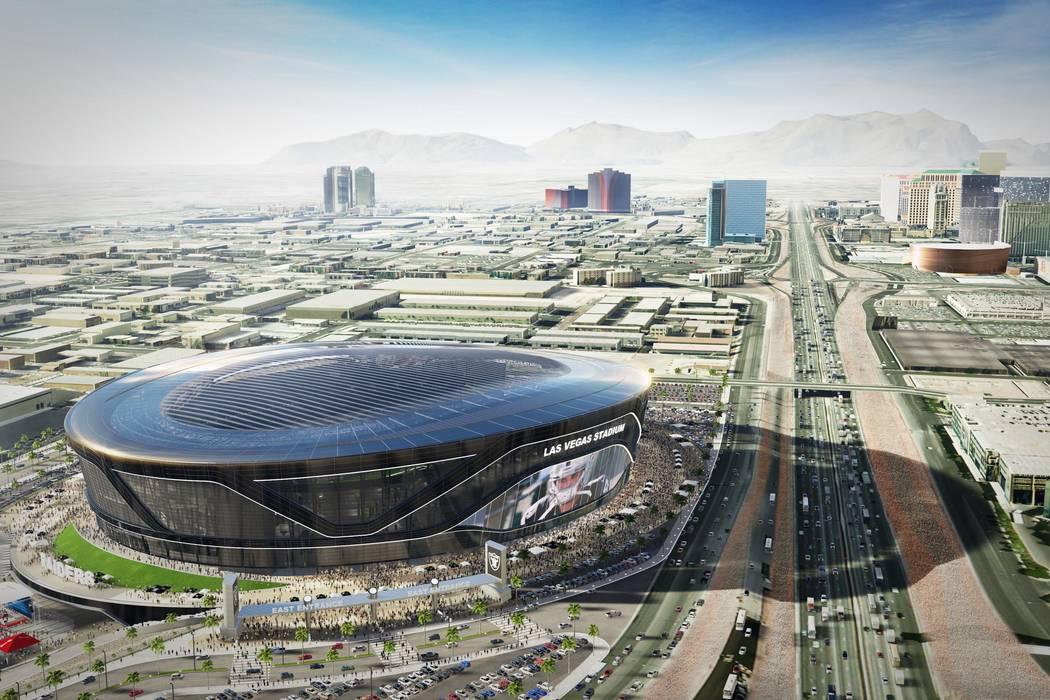 Un render del proyecto del estadio Las Vegas Raiders. (Arquitectura MANICA)