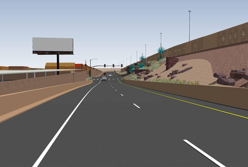 La construcción comienza el 30 de noviembre en un intercambio de $ 33.7 millones en Starr Avenue y la Interestatal 15. Render por el Departamento de Transporte de Nevada.