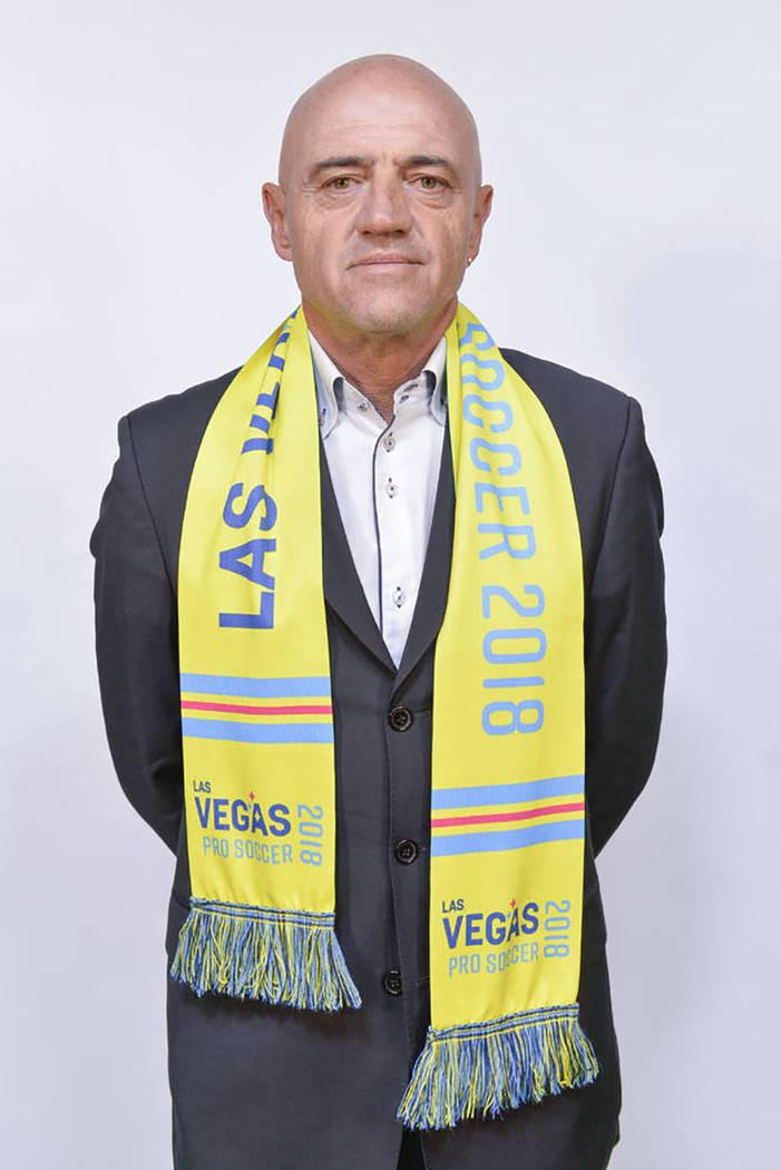 D.T de Las Vegas Lights FC, José Luis Sánchez Solá. | Foto Cortesía Idris Erba / Las Vegas Lights FC.