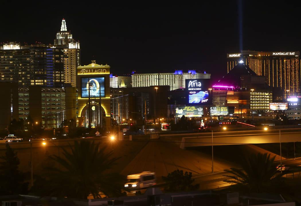 Una porción del horizonte de Las Vegas como se muestra en el hotel casino de Río el martes 23 de mayo de 2017. Chase Stevens Las Vegas Review-Journal @csstevensphoto