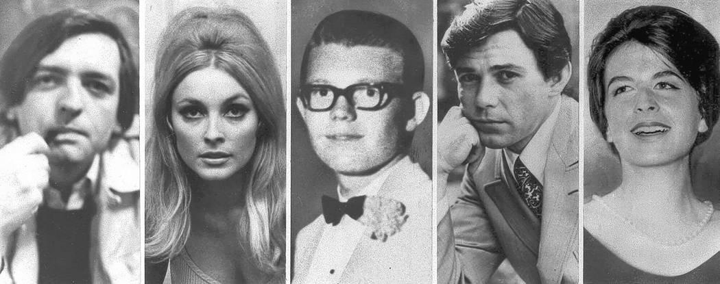 El collage muestra las cinco víctimas asesinadas la noche del 9 de agosto de 1969 en el predio de Benedict Canyon de Roman Polanski. Desde la izquierda, Voityck Frykowski, Sharon Tate, Stephen Pa ...