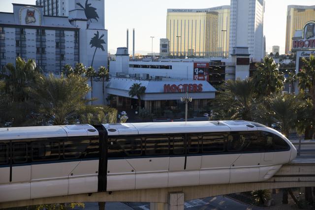 El monorriel de Las Vegas en el hotel casino MGM Grand el miércoles 28 de diciembre de 2016 en Las Vegas. Erik Verduzco / Las Vegas Review-Journal Sigue a @Erik_Verduzco