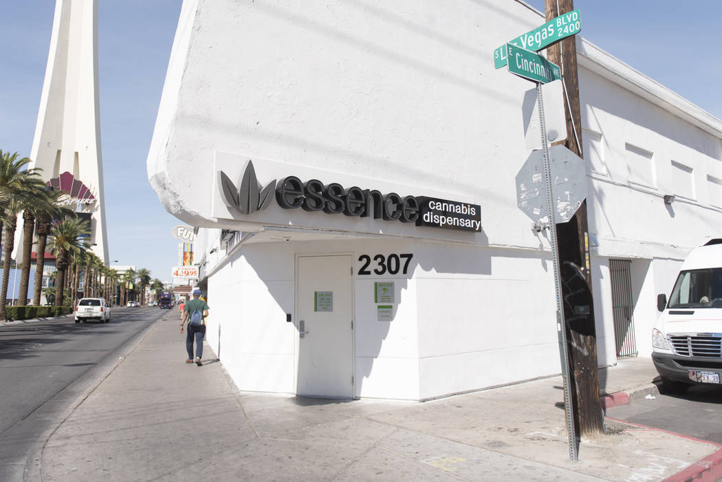 "Dispensario de cannabis Essence en el 3207 de Las Vegas Blvd. Sur en el ""Distrito Verde"" de Las Vegas. (Jason Ogulnik / Las Vegas Review-Journal)"