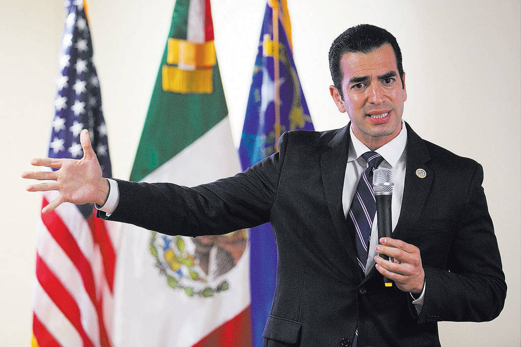 Rubén Kihuen, congresista de Nevada. | Foto Bridget Bennett Las Vegas Review-Journal.