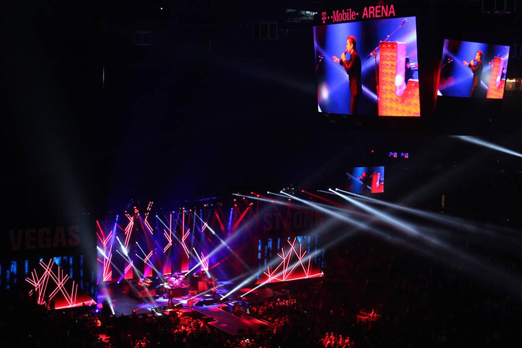 The Killers son los artistas locales con mayor reconocimiento internacional en la actualidad. 1 de diciembre en T-Mobile Arena. | Foto Cristian De la Rosa / El Tiempo.