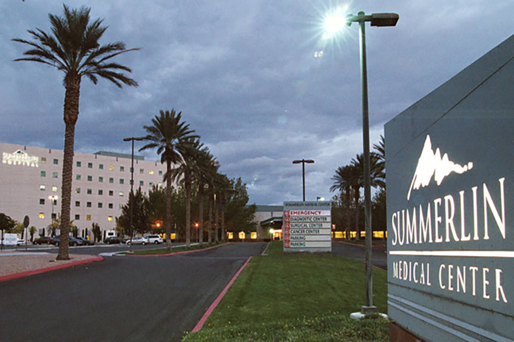 Centro Médico Hospital Summerlin  (Archivo de Las Vegas Review-Journal)