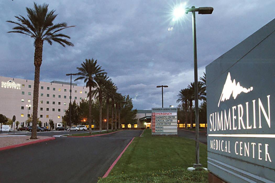 Centro Médico Hospital Summerlin  (Archivo de Las Vegas Review-Journal)