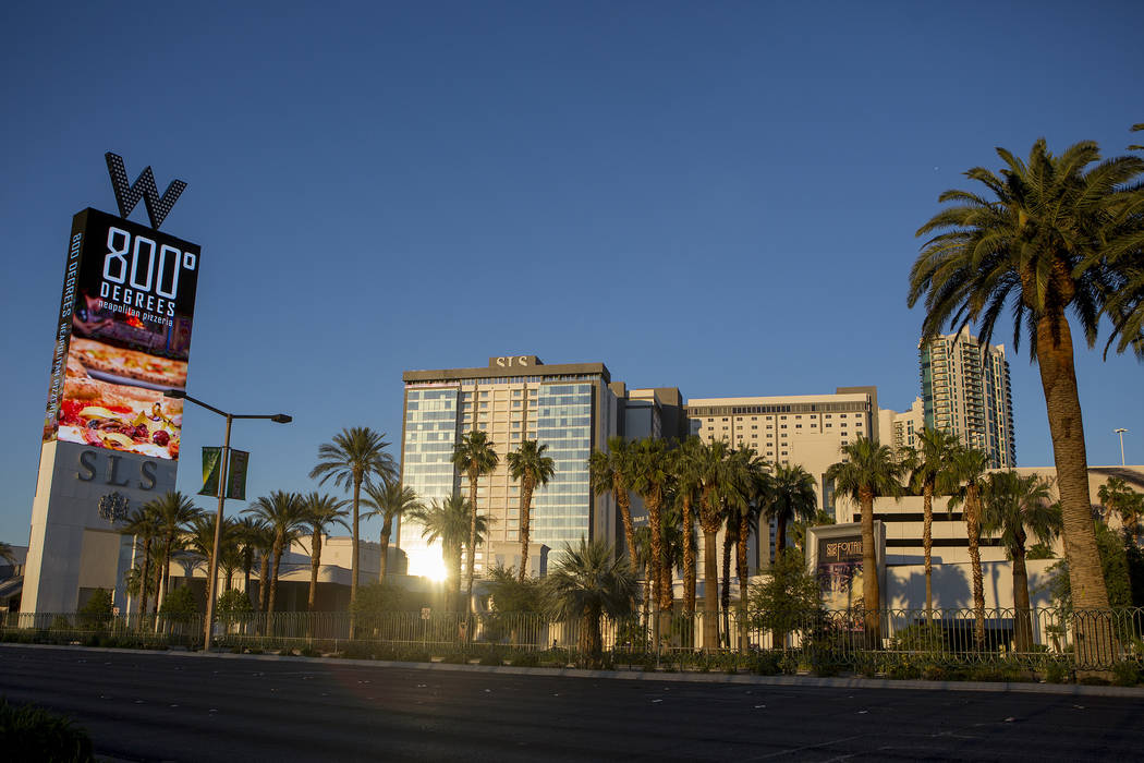 SLS Las Vegas, ubicado en Las Vegas Strip en West Sahara Avenue. (Bridget Bennett / Las Vegas Review-Journal) @bridgetkbennett