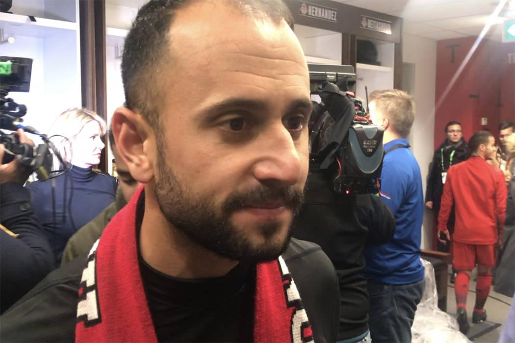 Víctor Vázquez y Marco Delgado dedicaron el campeonato a la afición canadiense. Sábado 9 de diciembre en BMO Field de Toronto, Canadá. | Foto Anthony Avellaneda / El Tiempo.
