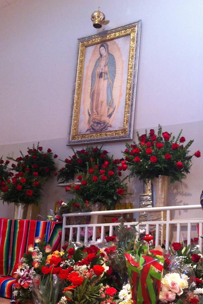La Virgen de Guadalupe en la parroquia de Francisco de Sales en Las Vegas, el 12 de diciembre del 2016. | Foto Valdemar González / El Tiempo Archivo.