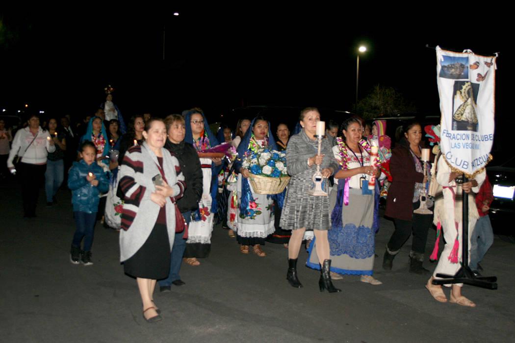 Procesión por La Virgen de la Salud, el 9 de diciembre del 2017 en Las Vegas. | Foto Valdemar González / El Tiempo Archivo.