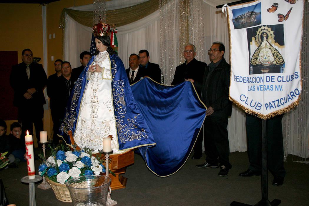 La Virgen de la Salud, durante festejo del Club Pátzcuaro, el 9 de diciembre del 2017. | Foto Valdemar González / El Tiempo Archivo.