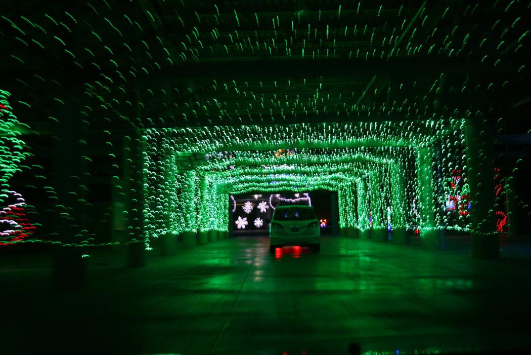 El show de luces de Navidad en LV Motor Speedway, 1 de diciembre 2017. Foto Valdemar González / El Tiempo.