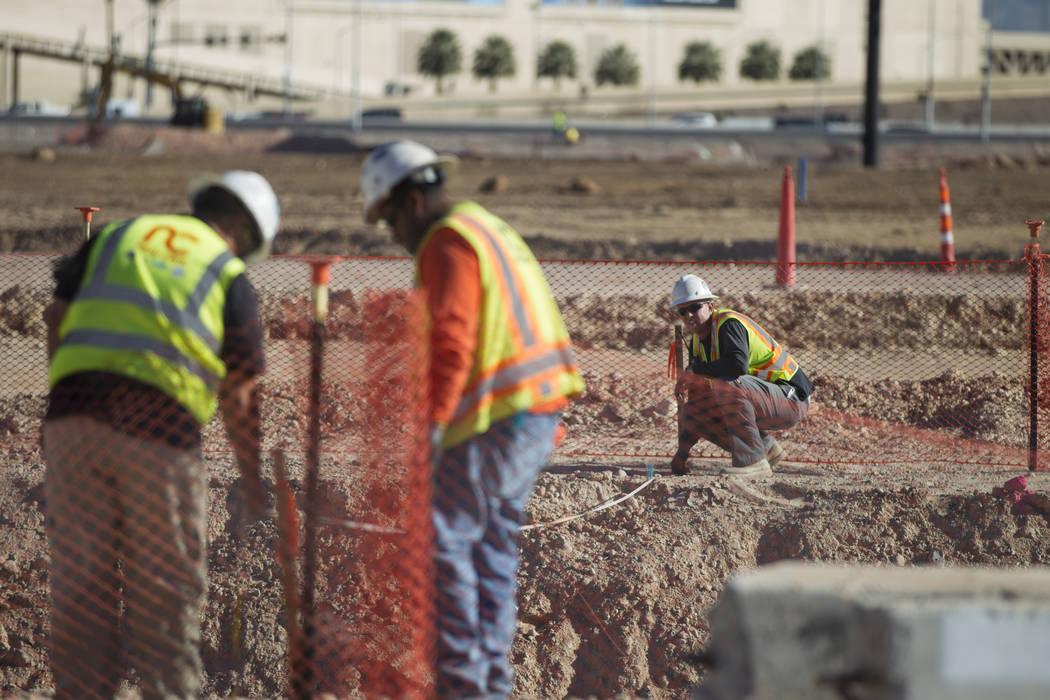 La escena en el estadio Raiders en Las Vegas, martes, 12 de diciembre de 2017. Erik Verduzco Las Vegas Review-Journal @Erik_Verduzco