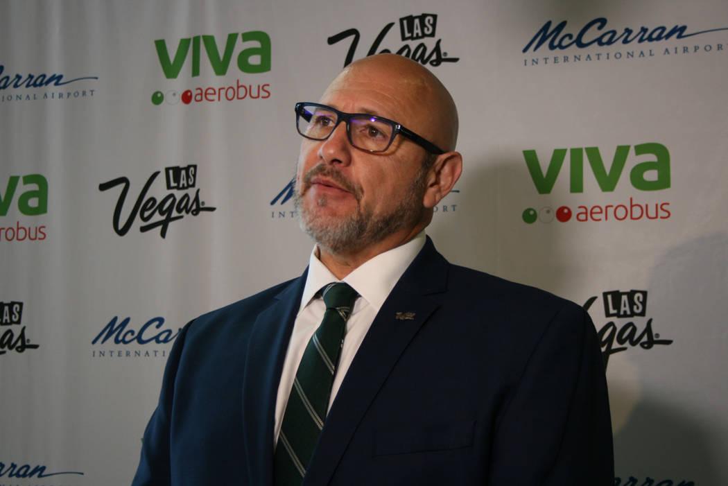 Rafael Villanueva, LVCVA, el 15 de diciembre del 2017 en el aeropuerto McCarran. Foto Valdemar González / El Tiempo.