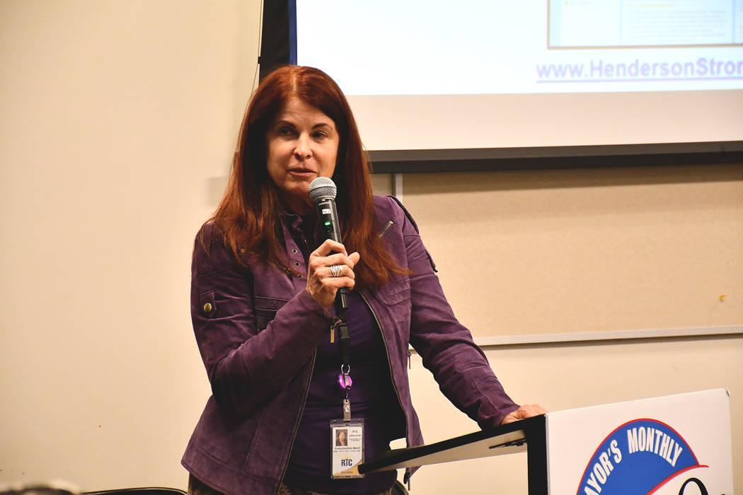 La alcaldesa de Henderson, Debra March, presentó su evento comunitario March On el martes por la noche. March, quien juramentó en junio, lanzó una serie de reuniones comunitarias mensuales que  ...