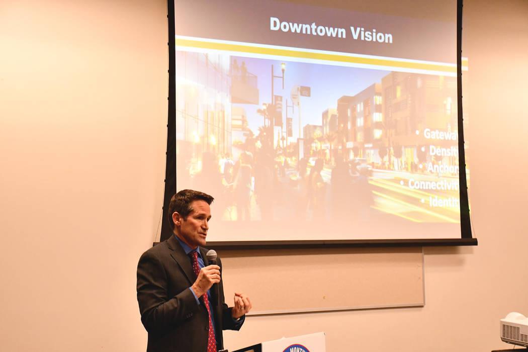 El Gerente de Redesarrollo de Henderson Mark Hobaica habló sobre nuevos proyectos y Water Street, y compartió detalles sobre cómo algunas de las ideas del plan de la ciudad se implementan en á ...