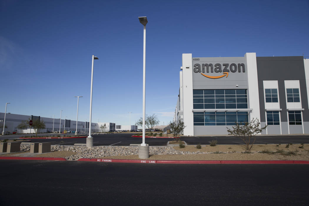 El Amazon Fulfillment Center en North Las Vegas, miércoles, 3 de enero de 2018. Erik Verduzco / Las Vegas Review-Journal