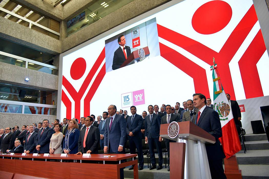 El presidente Enrique Peña Nieto clausuró hoy la 115 Asamblea General del INFONAVIT. México, 5 de Dic. 2017. Foto Notimex-Presidencia.