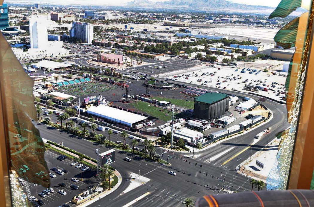 Vista de Las Vegas Village desde la habitación 32-135. Departamento de Policía Metropolitana de Las Vegas