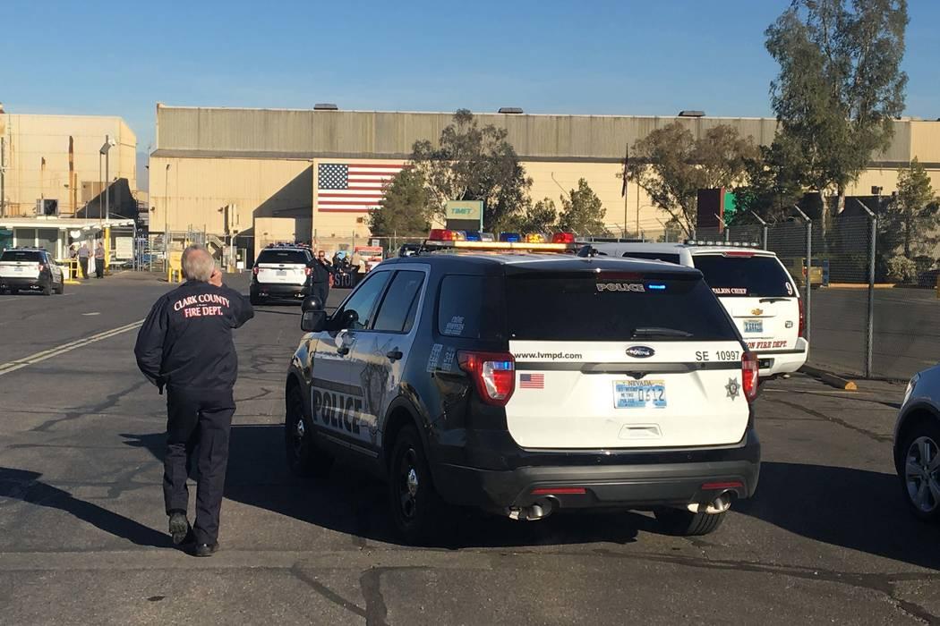Una explosión sacudió la planta TIMET cerca del centro de Henderson la mañana del miércoles, 24 de enero de 2018. (Bizuayehu Tesfaye / Las Vegas Review-Journal) @bizutesfaye
