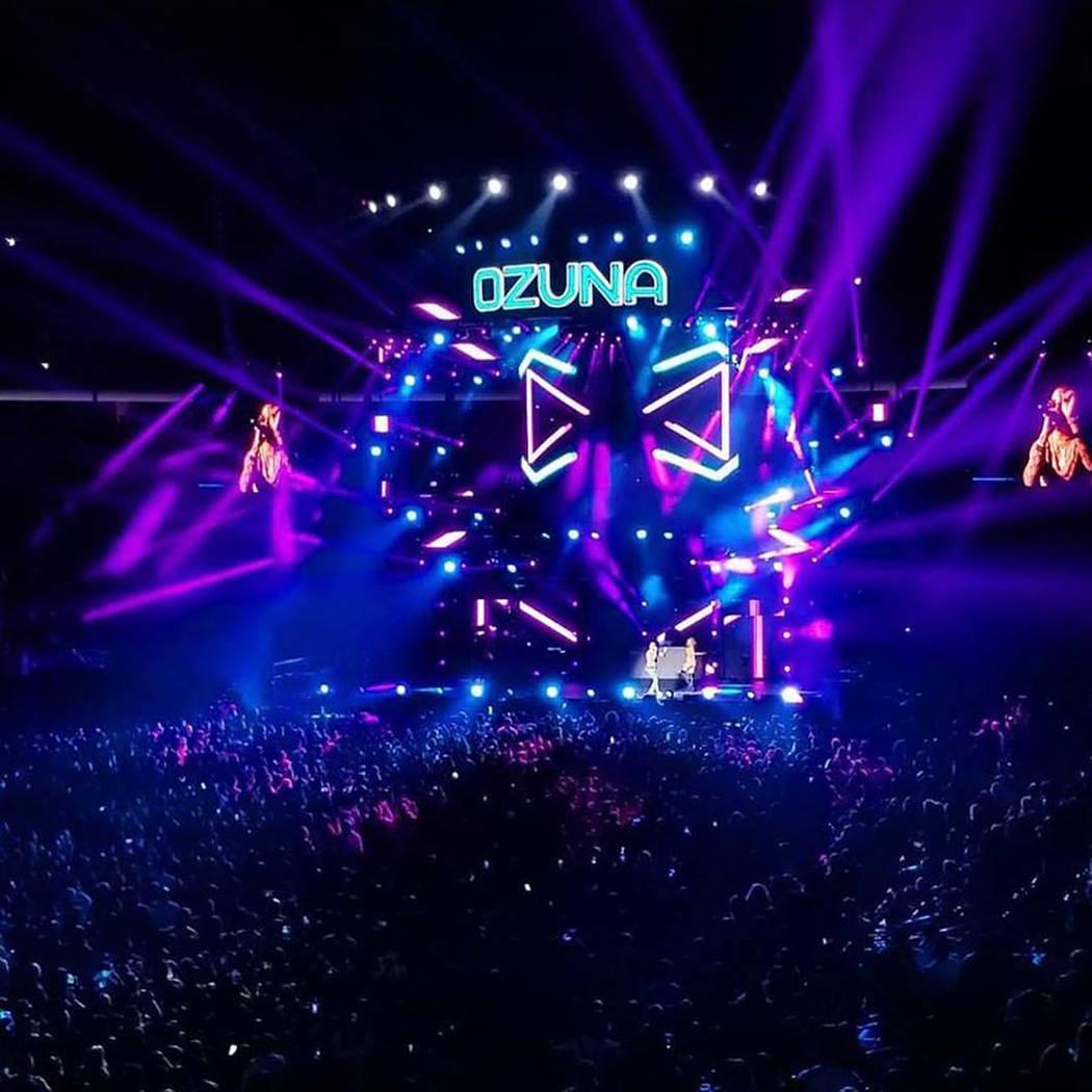El encargado de cerrar Calibash 2018 fue Ozuna. 26 de enero de 2018 en T-Mobile Arena. Foto Cortesía Calibash.