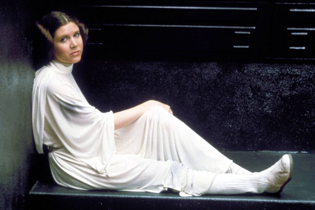 Carrie Fisher, Star Wars Episodio IV - A New Hope - 1977. Director: George Lucas Lucasfilm/20th Century Fox. Foto Lucasfilm/20th Century Fox/REX/Shutterstock.