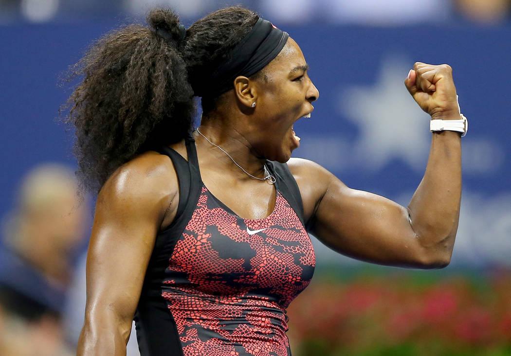 Serena Williams durante un partido de tenis. Foto Cortesía.