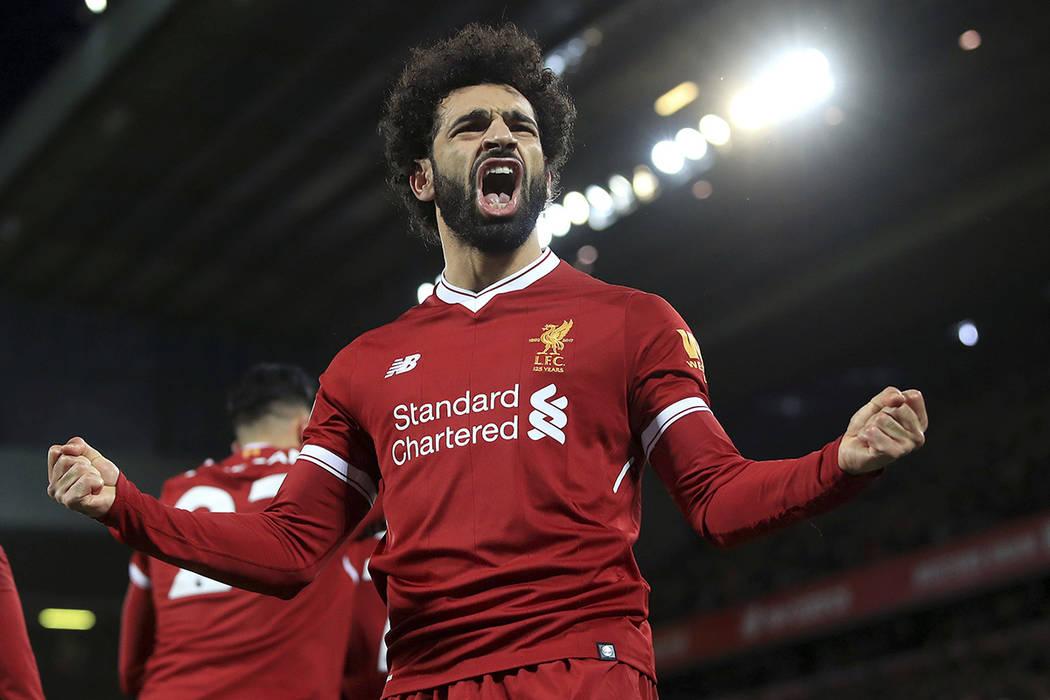 El delantero egipcio Mohamed Salah. | Foto Peter Byrne/PA via AP.