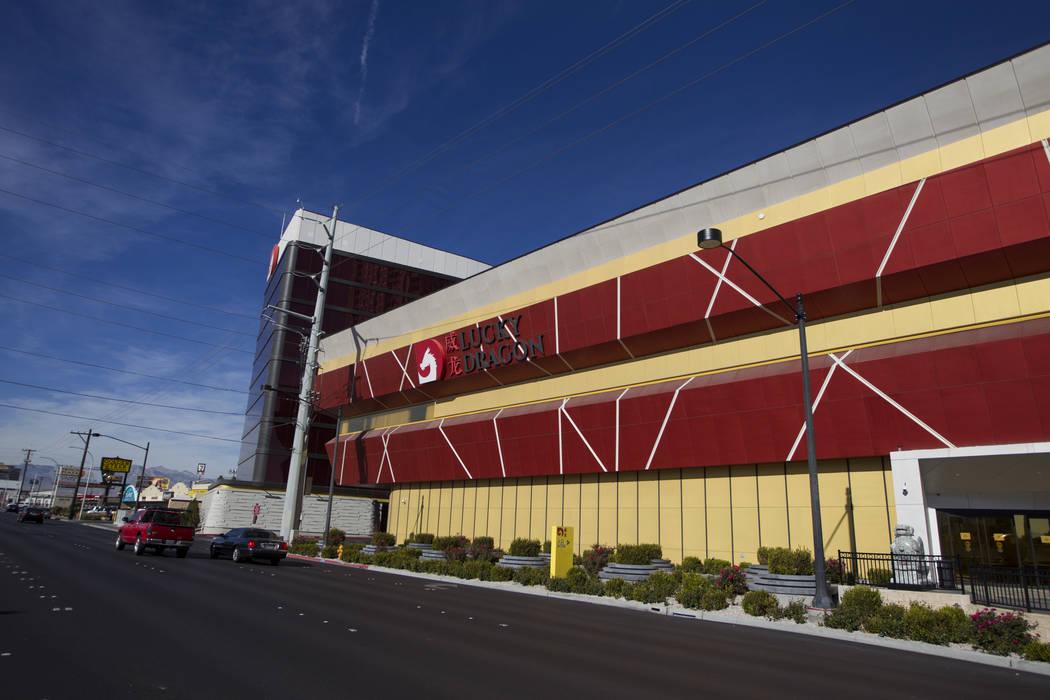 El Lucky Dragon en Las Vegas cerrará su casino y restaurantes hasta nuevo aviso, el jueves 4 de enero de 2018. (Erik Verduzco / Las Vegas Review-Journal)