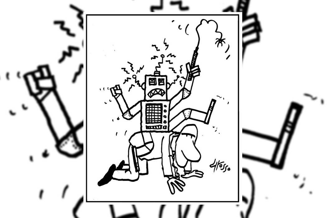 Robots locos. | Ilustración por Grosso / Especial para El Tiempo.