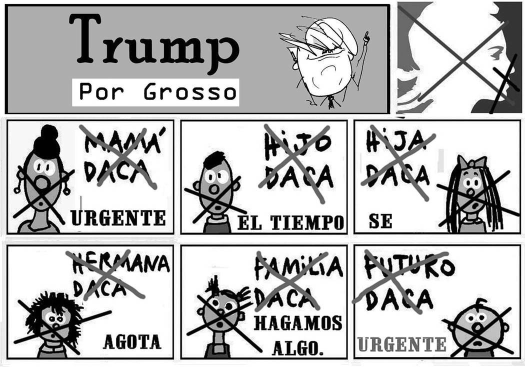 TRUMP.   Ilustración por Grosso / Especial para El Tiempo.